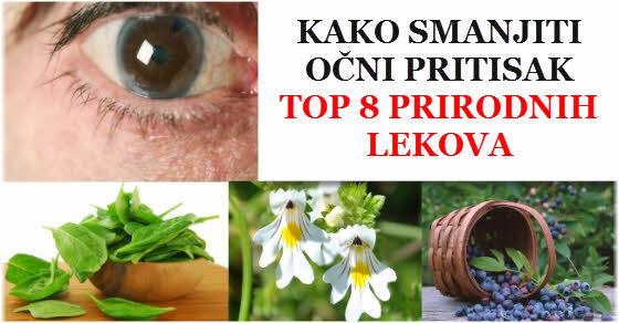 kako smanjiti očni pritisak