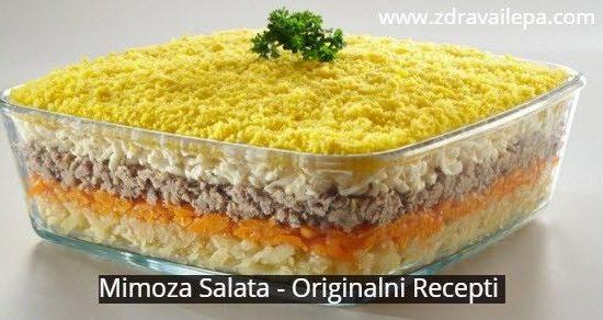 mimoza salata kako se pravi