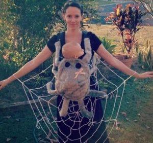 kostim za noc vestica mama i beba pauk