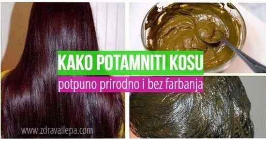 kako potamniti kosu kafom na prirodan način